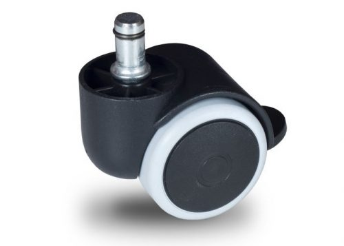 BPG 050 T10x32/N Forgó-Fékes kerék, padlókímélő gumis futófelület, 50 mm, 40 kg teherbírás, 10x32-es Seeger csappal