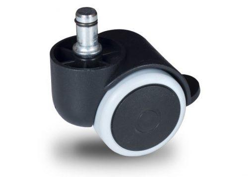 BPG 050 T11x20/N Forgó-Fékes kerék, padlókímélő gumis futófelület, 50 mm, 40 kg teherbírás, 11x20-as Seeger csappal