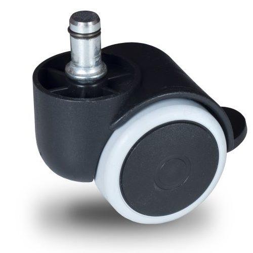 BPG 050 T8x32/N Forgó-Fékes kerék, padlókímélő gumis futófelület, 50 mm, 40 kg teherbírás, 8x32-es Seeger csappal