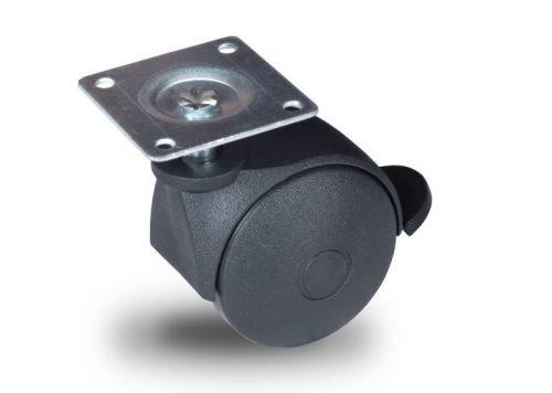 BPN 050 P42x42 Forgó-Fékes kerék, műanyag futófelület, 50 mm, 40 kg teherbírás, 42x42-es talppal