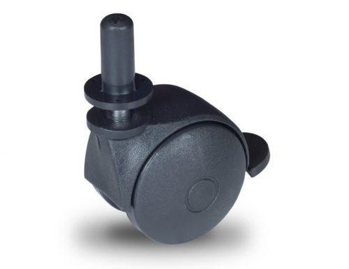 BPN 050 T10x32/N Forgó-Fékes kerék, műanyag futófelület, 50 mm, 40 kg teherbírás, 10x32-es Seeger csappal