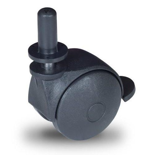 BPN 050 T11x20/N Forgó-Fékes kerék, műanyag futófelület, 50 mm, 40 kg teherbírás, 11x20-as Seeger csappal