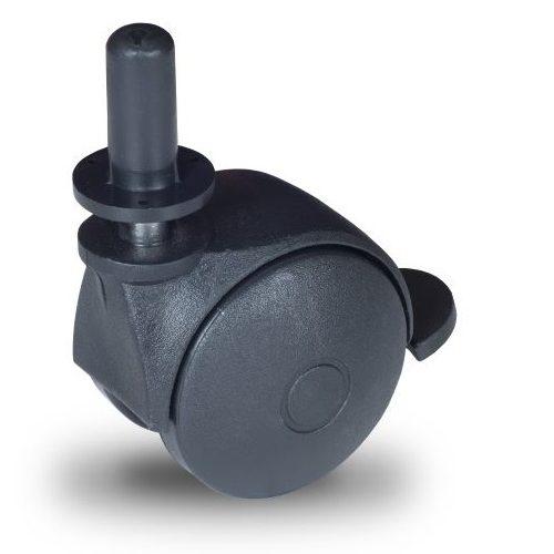 BPN 050 T8x32/N Forgó-Fékes kerék, műanyag futófelület, 50 mm, 40 kg teherbírás, 8x32-es Seeger csappal