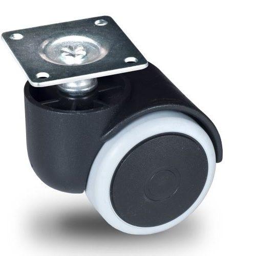 JPG 050 P42x42 Forgó kerék, padlókímélő gumis futófelület, 50 mm, 40 kg teherbírás, 42x42-es talppal