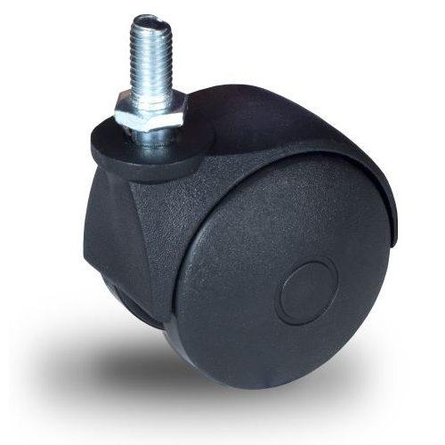 JPN 050 M10x15 Forgó kerék, műanyag futófelület, 50 mm, 40 kg teherbírás, M10x15 menetes szárral