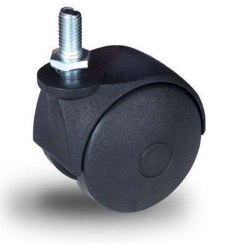 JPN 050 M8x15 Forgó kerék, műanyag futófelület, 50 mm, 40 kg teherbírás, M8x15 menetes szárral