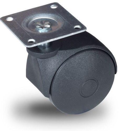 JPN 050 P42x42 Forgó kerék, műanyag futófelület, 50 mm, 40 kg teherbírás, 42x42-es talppal