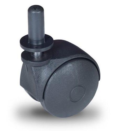 JPN 050 T10x32/N Forgó kerék, műanyag futófelület, 50 mm, 40 kg teherbírás, 10x32-es Seeger csappal