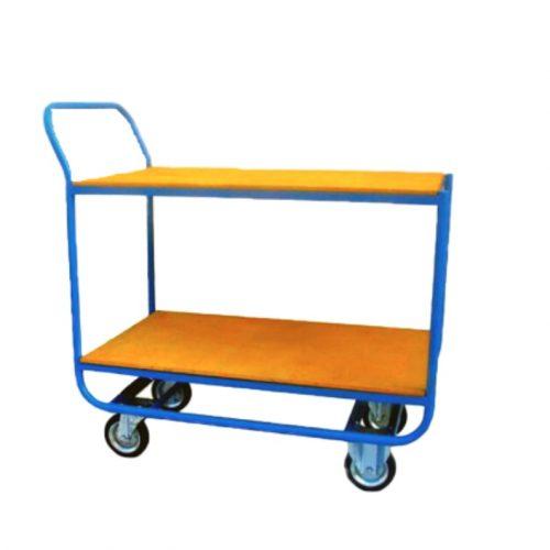 KK01, Asztalkocsi rakodó résszel, Rakfelület: 1000x600 mm, Teherbírás: 250 kg