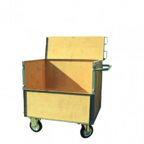 KK10, Áruszállító dobozos kézikocsi, Rakfelület: 1000x700 mm, Teherbírás: 700 kg.